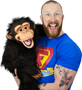 Freddie-Fantastic-birthday-party-entertainer-with-Cheecky-Monkey