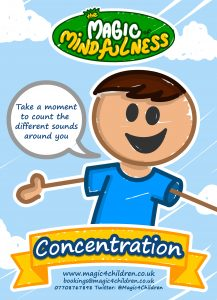 A poster to help children remember how to be able to concentrate