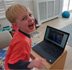 Online Kids Entertainer - Freddie Fantastic in action bringing lots of joy and laughter