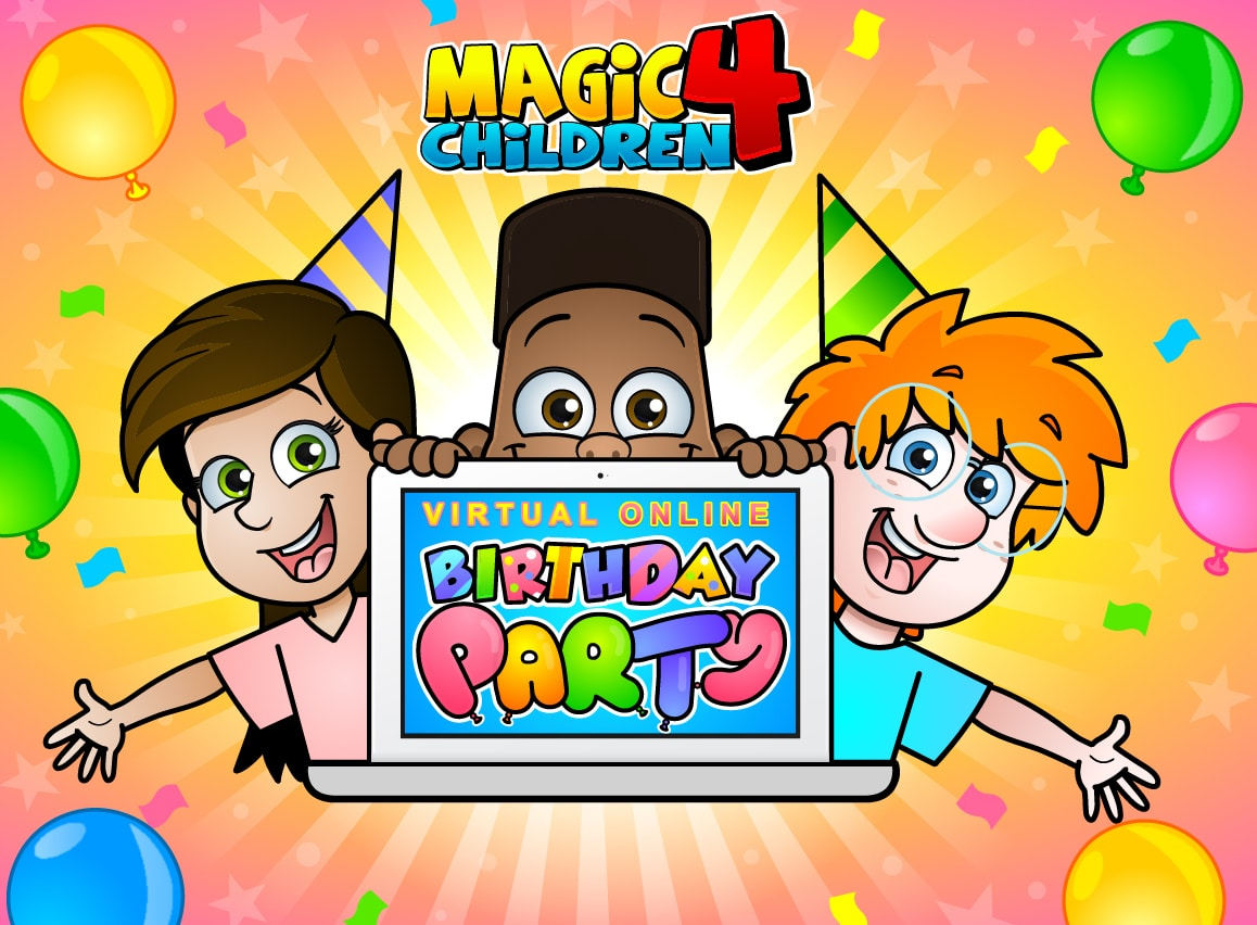 The New artwork showing off Magic 4 Children's Virtual online Children's entertainment