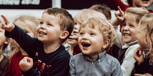 Children laughing and enjoying a Kids Party